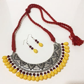 Handcrafted Hansuli Necklace Set