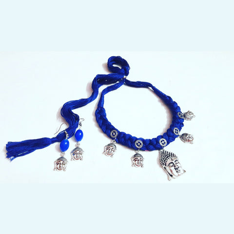Blue Thread Buddha Necklace