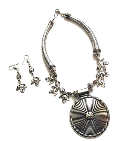 Oxidised Boho Neckpiece Set