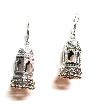 Germansilver Temple Style Jhumka Earring
