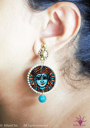 Handpainted Mural Earrings