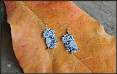 Colorful Owl Earrings 02