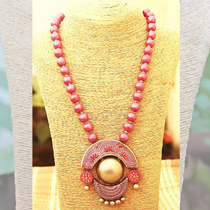 Terracotta Necklace Earrings Set 17