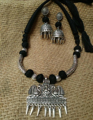 Ganesh And Peacock Neckpiece