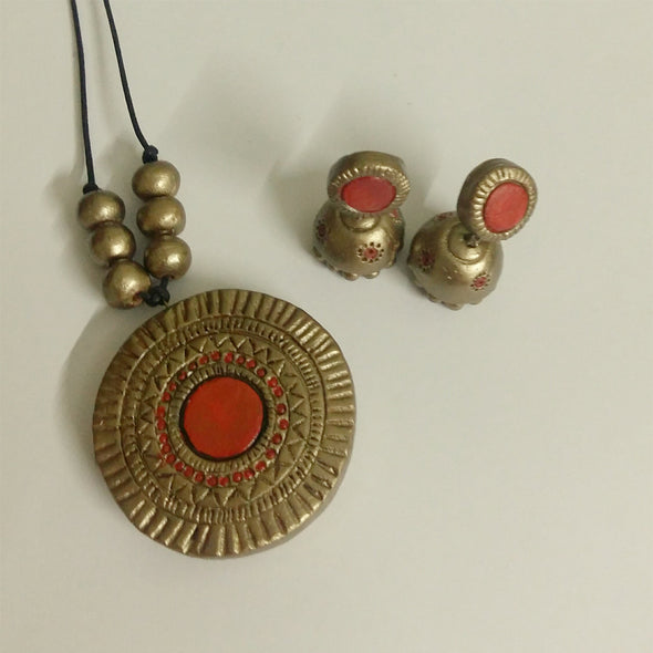 Terracotta Necklace Set 6