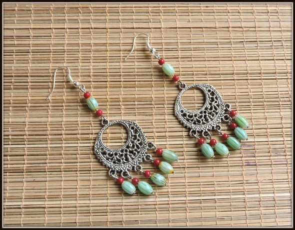 Green and Red bead danglers