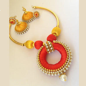 Orange & Yellow Necklace Set