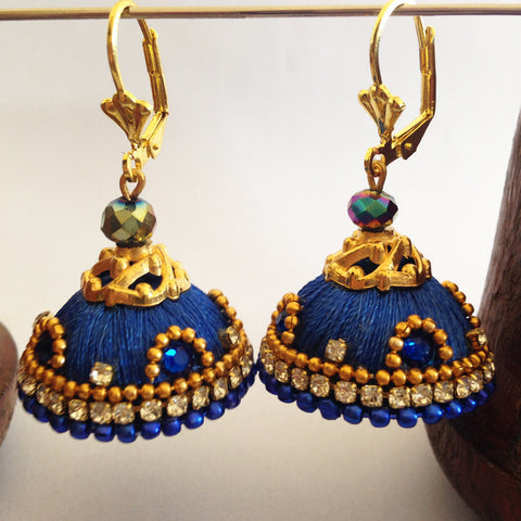Blue Hook Jhumka