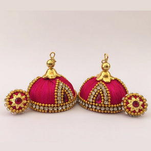 Pink-Red Jhumka