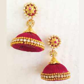 Dark Purple Jhumka