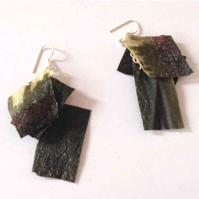 Resin Fabric Earrings