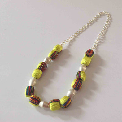 Double Colour Silk Thread Necklace