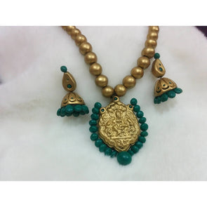 Devi Pendant Chain and Earrings set