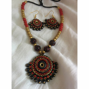 Chakra Necklace and Earrings