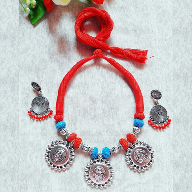 Ganpati Thread Statement Neckpiece
