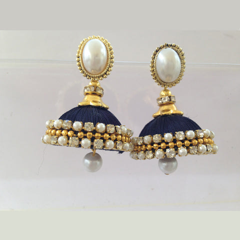 Dark Blue Studded Jhumka