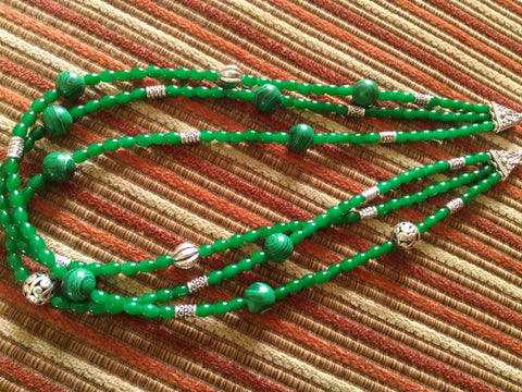 Green Trio Necklace