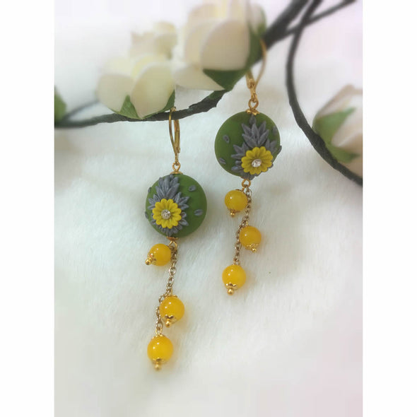 Yellow Daisy Earrings