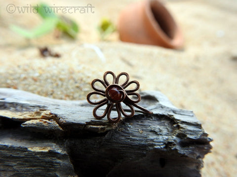 Flower Nose Clip On Maroon