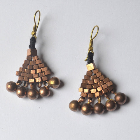 Copper Dokra Earring