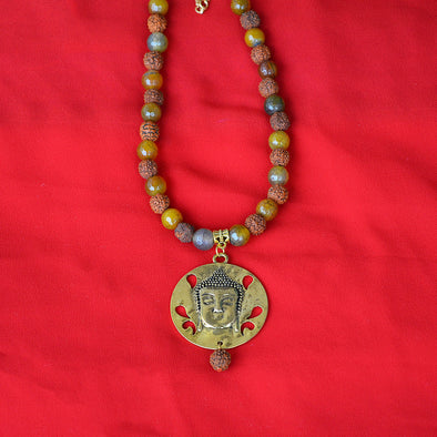 Buddha and Rudraksha Necklace