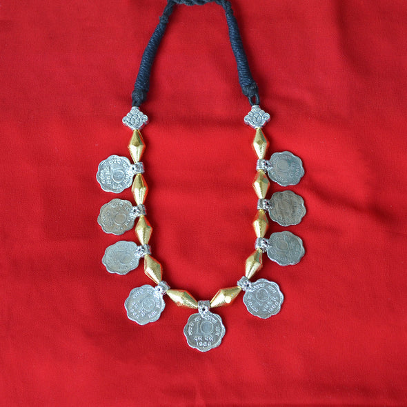 Dual Tone Dholki Necklace