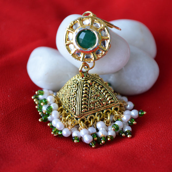 Kundan and Pearl Earrings