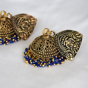 Devi - Antique Gold Jumbo Jhumka