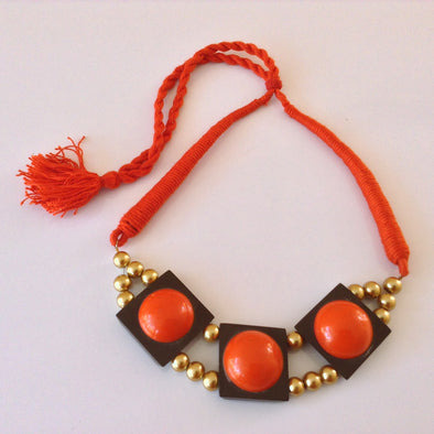 Resin Bead Choker Necklace