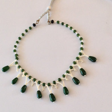 Beaded Glass Bead Necklace