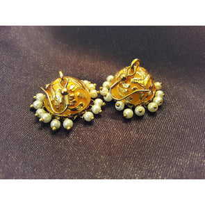 Brocate Golden Jhumkas 1