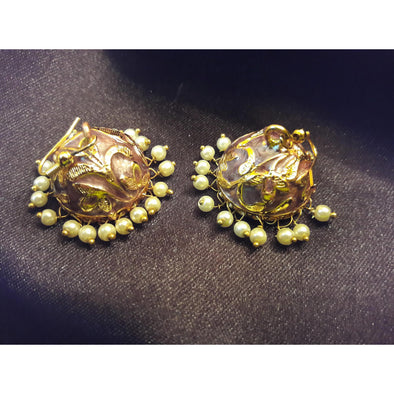 Brocate Golden Jhumkas 2