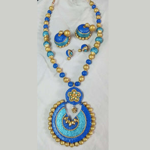 Terracotta Trendy Blue Jewellery Set