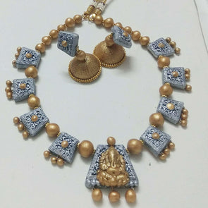 Terracotta Temple Ganesha Jewellery Set