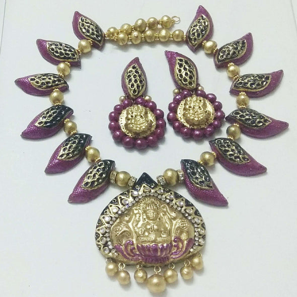 Terracotta Temple Laxmi Jewellery Set