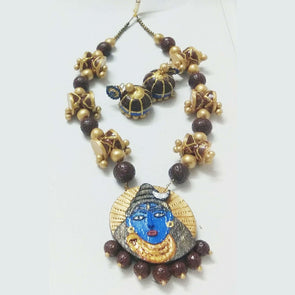 Terracotta Temple Shiva Jewellery Set