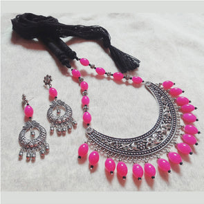 Amrapali Hansuli with Pink Beads