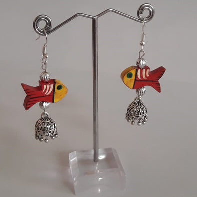 Fish Beads with Round Base Jhumka