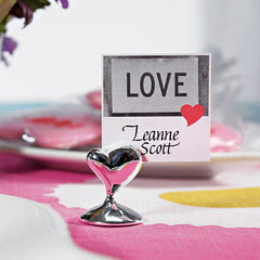 """Swish"" Heart Place Card Holders 