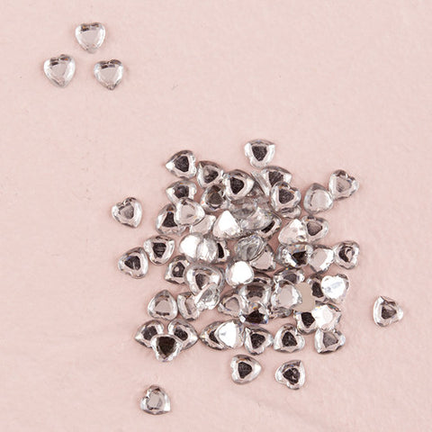 Diamond Clear Heart Jewels Wedding Confetti|Bijoux de diamants clairs en forme de coeur