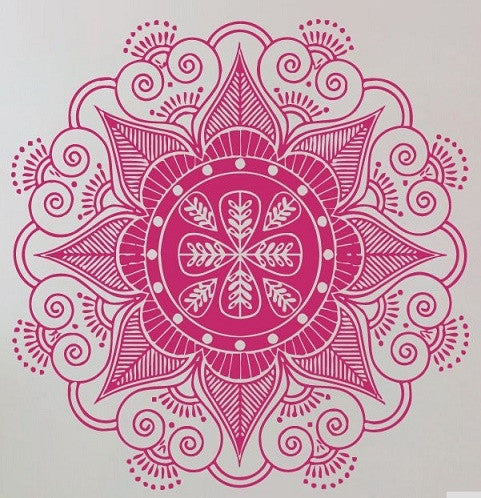 Sticker Mandala mural
