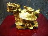 Tortue Dragon Feng Shui Bronze Symbole de Protection, Richesse, Longévité..