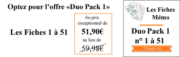 Fiches Mémo Feng Shui Duo Pack 1 - Fiches n° 1 à 51
