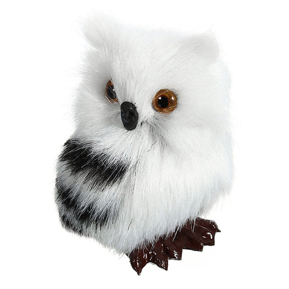 Hibou Blanc peluche décoration attire la chance !