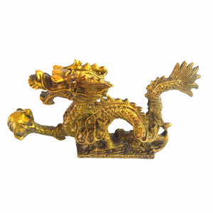 Dragon Chinois-Chance et Protection Laiton Massif