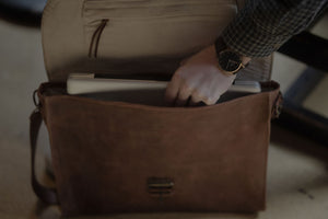 Leather Attaché Bag
