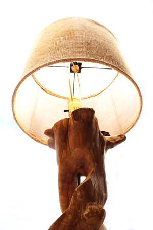 Coffee Wood Lamp