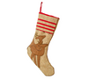 Burlap Christmas Stocking - Reindeer