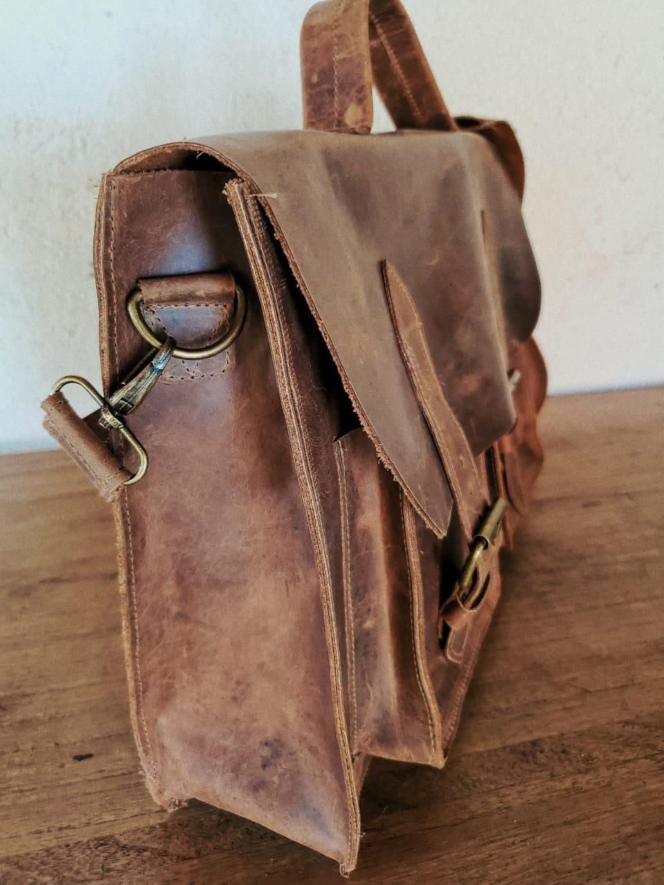 Limited-Edition Leather Laptop Bag