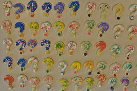 question mark cookies